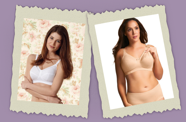 nursing white and tan bras
